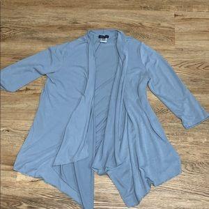 Slinky Brand Gray Lightweight Cardigan Size Large